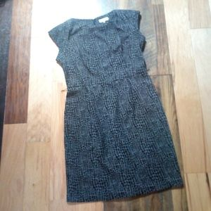 Large 14 CALVIN KLEIN textured office dress